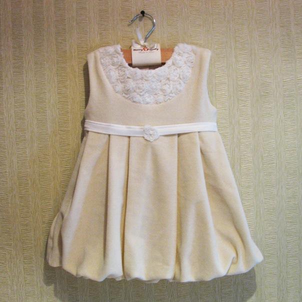 Платье из бархата девочке сшить 9